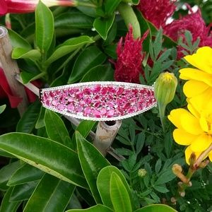 Bright pink bangle bracelet